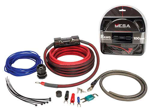 8 & 4 Gauge Amplifier Wiring Kits by Planet Audio and Rockford Fosgate