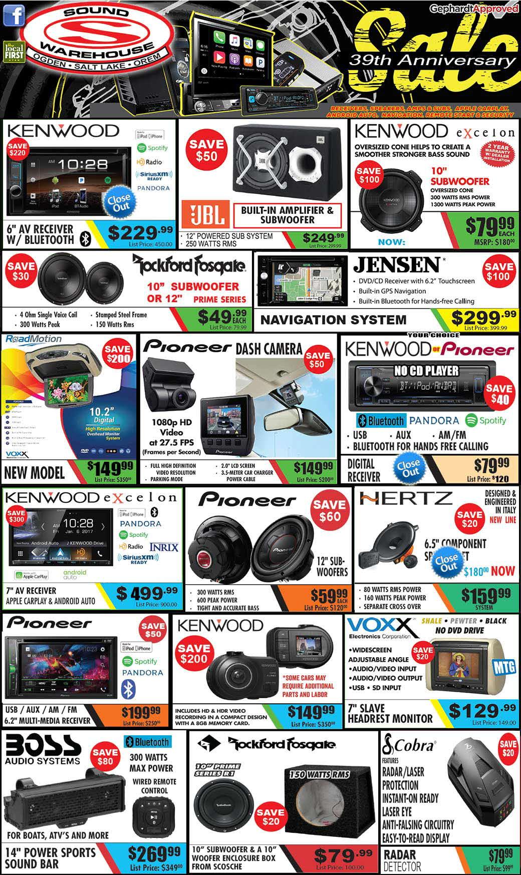 Deals & Closeouts - Sound Warehouse Utah